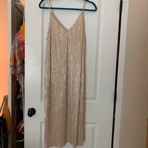 Lush Shiny Spaghetti Party Dress